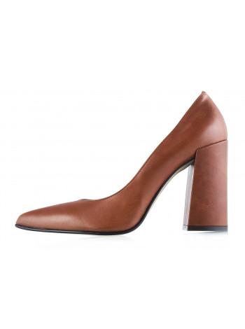 11989 NOE (Italy) Туфли открытые кожаные светло-коричневые