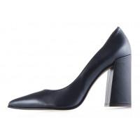 11991 NOE (Italy) Туфли открытые кожаные темно-синие