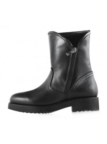 12023 BEFEETGERALD (Italy) Полусапожки зимние кожаные черные
