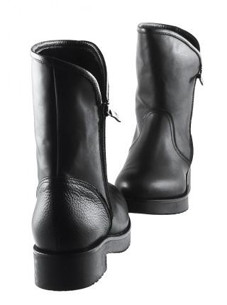 Полусапожки зимние кожаные BEFEETGERALD (Italy) 12023 черные