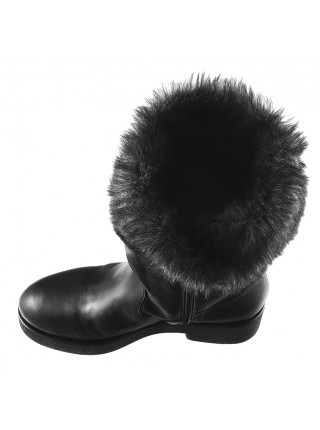 12024 BEFEETGERALD (Italy) Полусапожки зимние кожаные черные