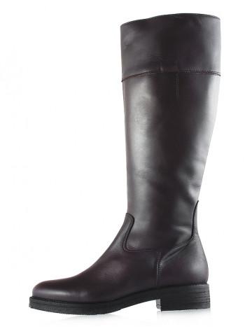 Сапоги осенние кожаные BEFEETGERALD (Italy) 12030 темно-коричневые