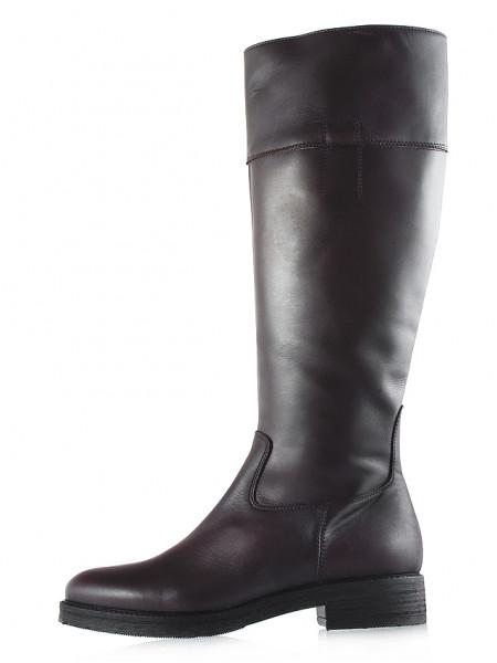 12030 BEFEETGERALD (Italy) Сапоги осенние кожаные темно-коричневые