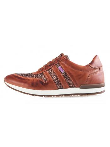 12052 BEFEETGERALD (Portugal) Кроссовки кожаные светло-коричневые