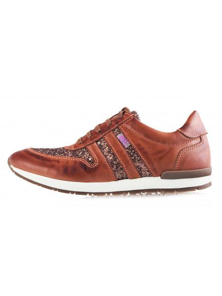 12052 BEFEETGERALD (Italy) Кроссовки кожаные светло-коричневые