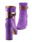Ботильоны осенние замшево-кожаные BEFEETGERALD (ИТАЛИЯ) 12059 светло-фиолетовые