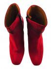 Ботильоны осенние замшево-кожаные BEFEETGERALD (ИТАЛИЯ) 12060 красные