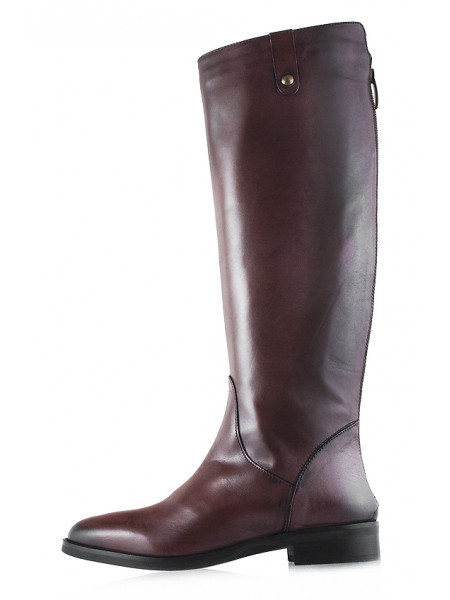 12097 EMANUELE CRASTO (Italy) Сапоги осенние кожаные темно-коричневые