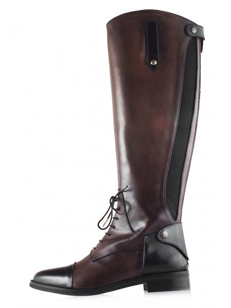 12098 EMANUELE CRASTO (Italy) Сапоги осенние кожаные темно-коричневые