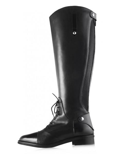 12099 EMANUELE CRASTO (Italy) Сапоги осенние кожаные черные