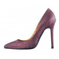 12117 BEFEETGERALD (Italy) Туфли замшево-лаковые фиолетовые рептилия