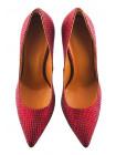 12118 BEFEETGERALD (Italy) Туфли замшево-лаковые красные рептилия