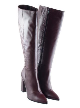 12137 BEFEETGERALD (Italy) Сапоги осенние кожаные бордовые