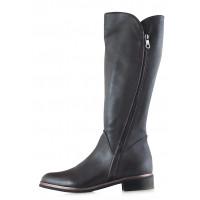 Сапоги еврозима кожаные BEFEETGERALD (ИТАЛИЯ) 12139 темно-коричневые