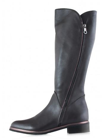 12139 BEFEETGERALD (Italy) Сапоги еврозима кожаные темно-коричневые
