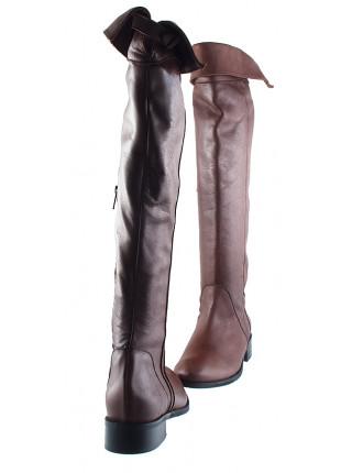 Ботфорты осенние кожаные BEFEETGERALD (ИТАЛИЯ) 12141 коричневые