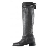 Ботфорты осенние кожаные BEFEETGERALD (ИТАЛИЯ) 12142 темно-серые