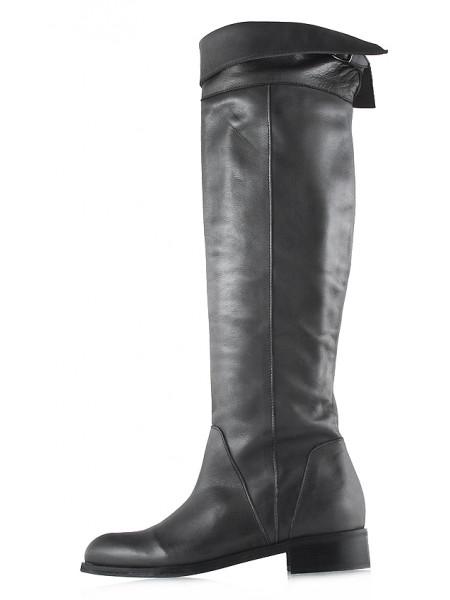 12142 BEFEETGERALD (Italy) Ботфорты осенние кожаные темно-серые