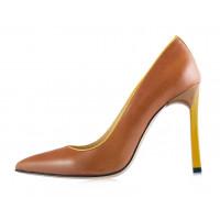 12181 BEFEETGERALD (Italy) Туфли кожаные светло-коричнево-желтые