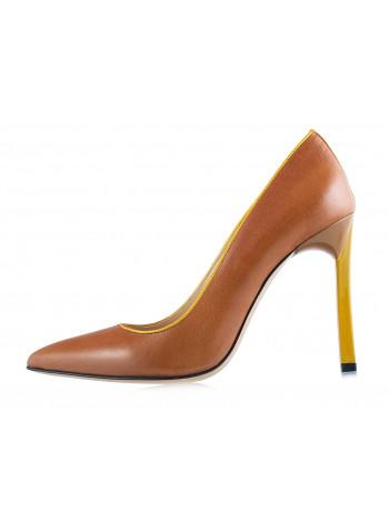 Туфли кожаные BEFEETGERALD (ИТАЛИЯ) 12181 светло-коричнево-желтые