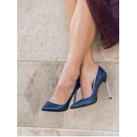 12182 BEFEETGERALD (Italy) Туфли кожаные сине-серебристые