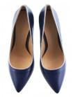 Туфли кожаные BEFEETGERALD (ИТАЛИЯ) 12182 сине-серебристые