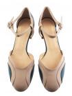 12184 BEFEETGERALD (Italy) Туфли открытые кожаные бежево-зеленые
