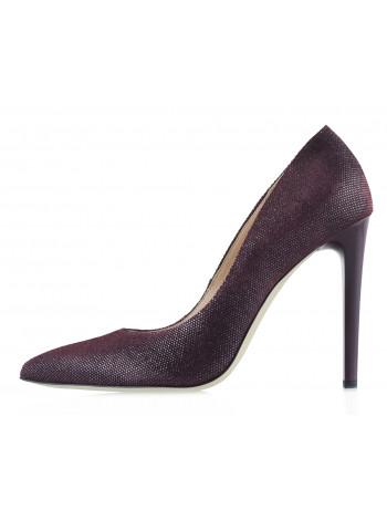 Туфли замшево-лаковые SHOEBOOUTIQUE (Poland ) 12219 бордовые