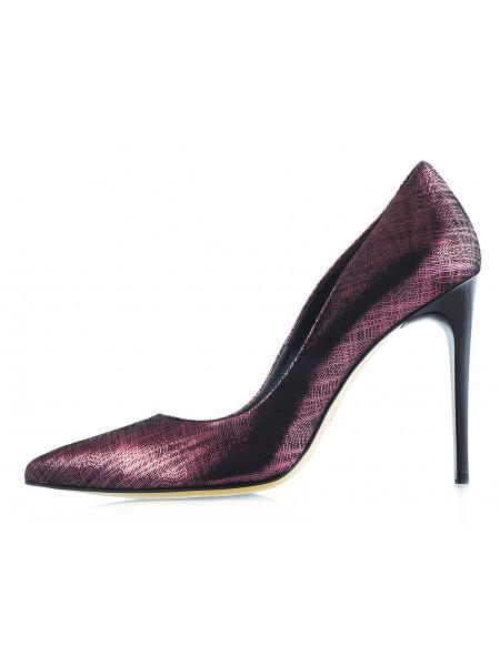 12269 MARA COPPI (Poland) Туфли замшево-лаковые бордовые