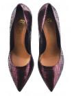 Туфли замшево-лаковые MARA COPPI (Poland ) 12269 бордовые
