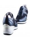 12307 NERO GIARDINI (Italy) Сникерсы кожано-текстильные темно-синие