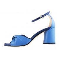Босоножки кожаные BEFEETGERALD (ИТАЛИЯ) 12319 голубо-синие