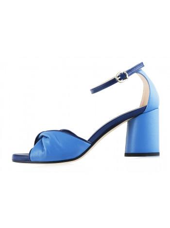 12319 BEFEETGERALD (Italy) Босоножки кожаные голубо-синие