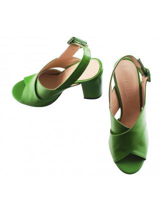 12320 BEFEETGERALD (Italy) Босоножки кожаные светло-зеленые