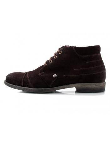 Ботинки зимние замшевые CONHPOL DYNAMIC (Poland ) 2122 темно-коричневые