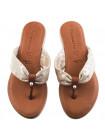 12332 TAMARIS (Germany) Шлепки замшево-лаково-кожаные бежево-коричневые