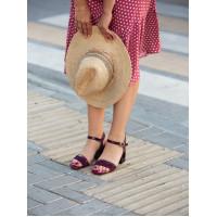 Босоножки замшево-кожаные BEFEETGERALD (Italy) 12349 бордовые