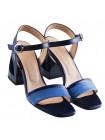 Босоножки кожаные BEFEETGERALD (ИТАЛИЯ) 12350 сине-голубые