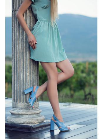12353 BEFEETGERALD (Italy) Босоножки кожаные голубые