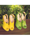 Босоножки кожаные BEFEETGERALD (ИТАЛИЯ) 12355 желтые