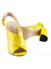 12355 BEFEETGERALD (Italy) Босоножки кожаные желтые