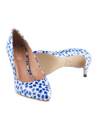 12379 VICTIM (Poland) Туфли лаковые бело-синие