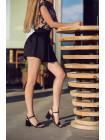 12443 BEFEETGERALD (Italy) Босоножки кожаные черные