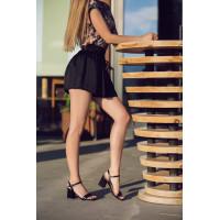 Босоножки кожаные BEFEETGERALD (ИТАЛИЯ) 12443 черные