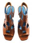 12447 BEFEETGERALD (Italy) Босоножки кожаные светло-коричневые