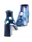 Босоножки кожаные BEFEETGERALD (ИТАЛИЯ) 12480 синие