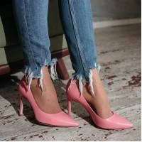 Туфли кожаные HISTORY (ИТАЛИЯ) 12551 розовые