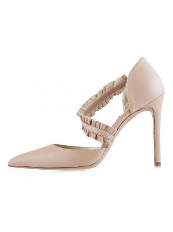 12568 PAULA MENDEZ (Italy) Туфли открытые кожаные светло-розовые