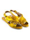 12586 BEFEETGERALD (Italy) Босоножки кожаные золотисто-платиновые