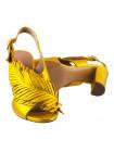 12588 BEFEETGERALD (Italy) Босоножки кожаные золотистые